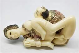A Japanese erotic bone statue