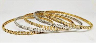 A rare custom made Pierre Sterle Bracelets. Set of five