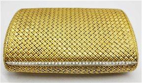 Van Cleef & Arpels - gold and diamonds box