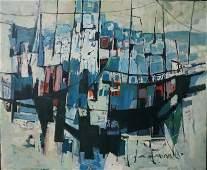 """Zvi Meirovich """"Haifa port"""""""