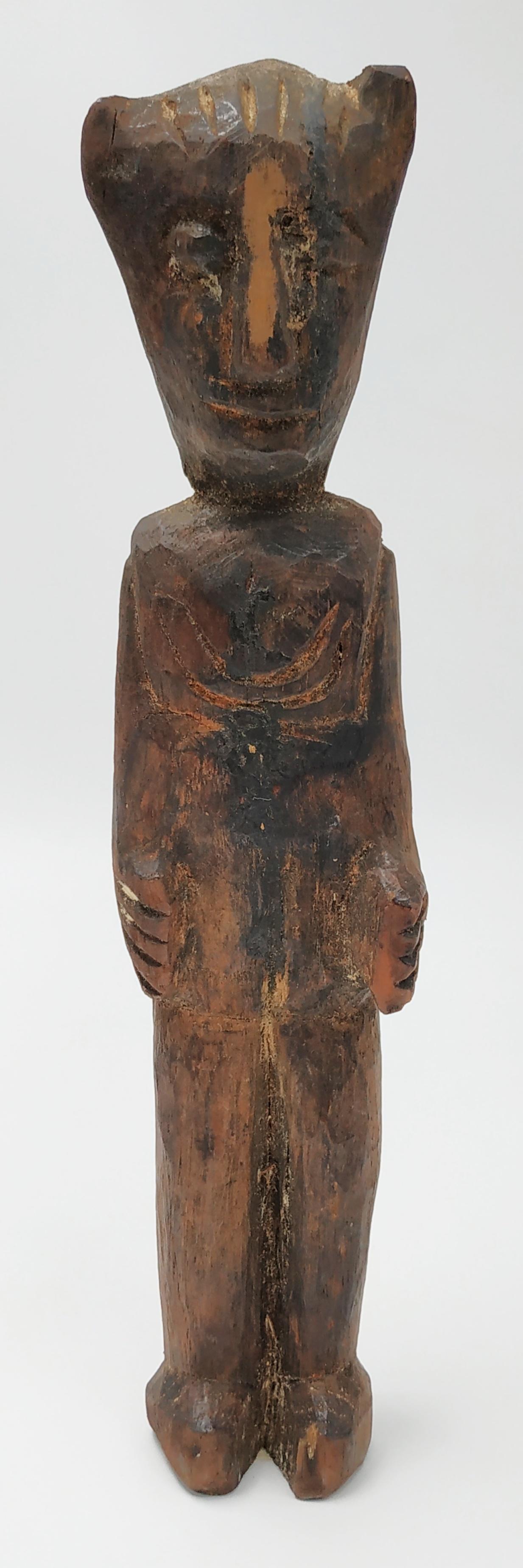 primitive wood figure , Oceania