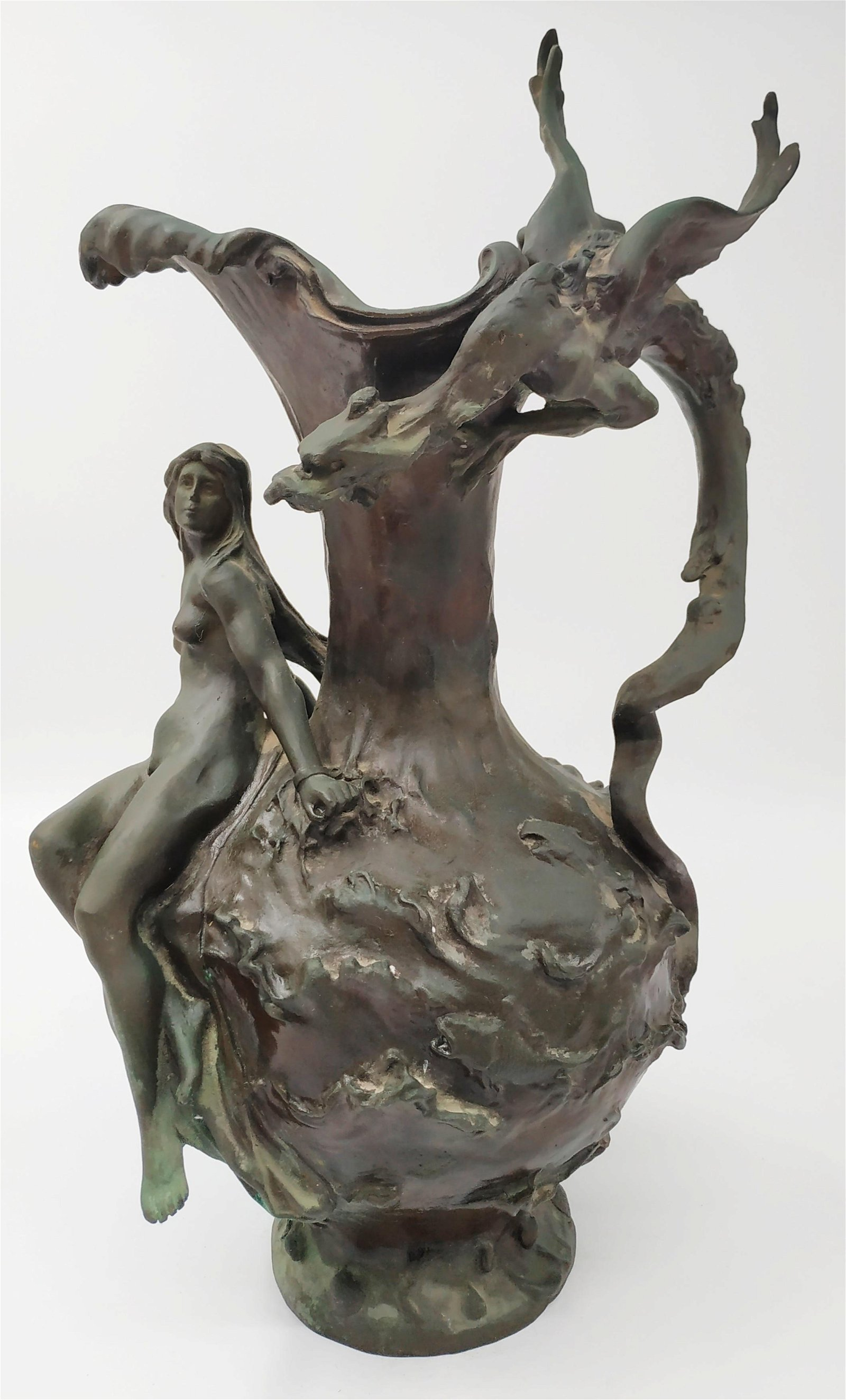 French bronze vase, Art Nouveau