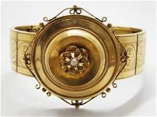 Victorian 18k gold bracelet Europe france 18701890