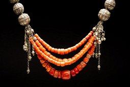 Jewish Yemeni coral bead necklace- Chinese Islamic