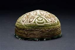 Silver embroidered bridegroom Kipa Bukhara Jewish