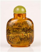 an old chinese, inside painted snuff bottle