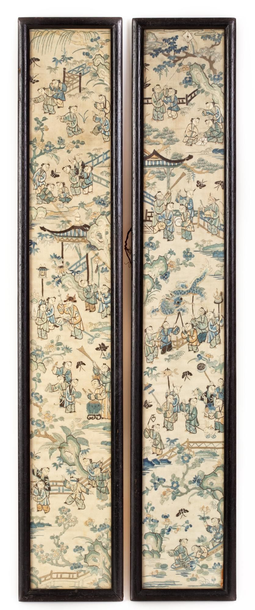 Two Old Silk Embroideries - China