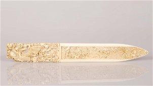 Rare Chinese, bone hairpin -China, early Qing dynasty