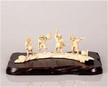 Bone Group Sculpture - Oni Imp Orchestra