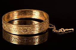exquisite Victorian 18k french bracelet- signed