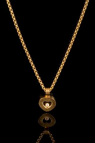 Chopard - Gold Pendant Necklace Set w/ Diamond