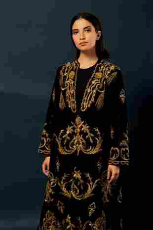 A velvet Jalabiya embroidered with silver - Ottoman