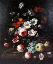 Philip Van Kouwenbergh Dutch Floral Still Life