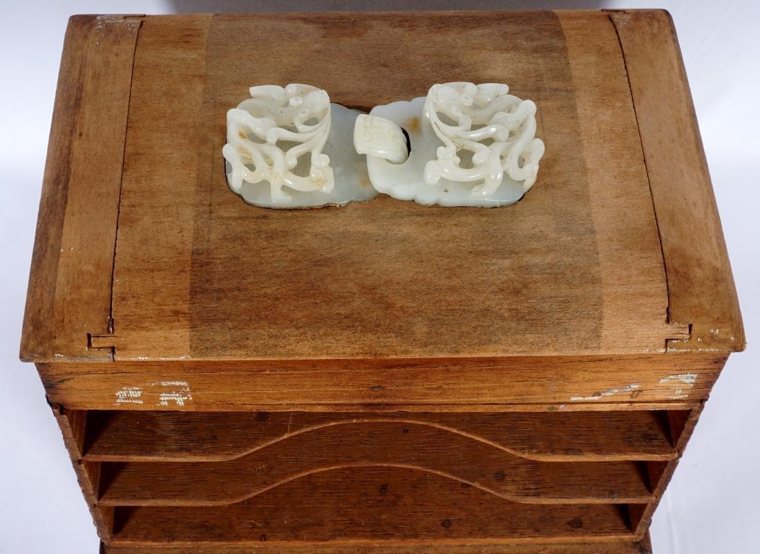 Chinese Qing Carved Jade Belt Hook - 2