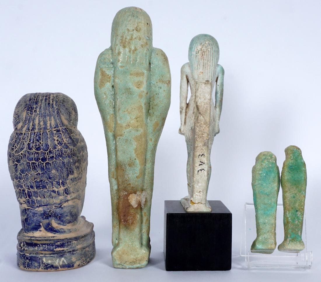 5 Egyptian Ushabti & Thoth Baboon Figure - 3