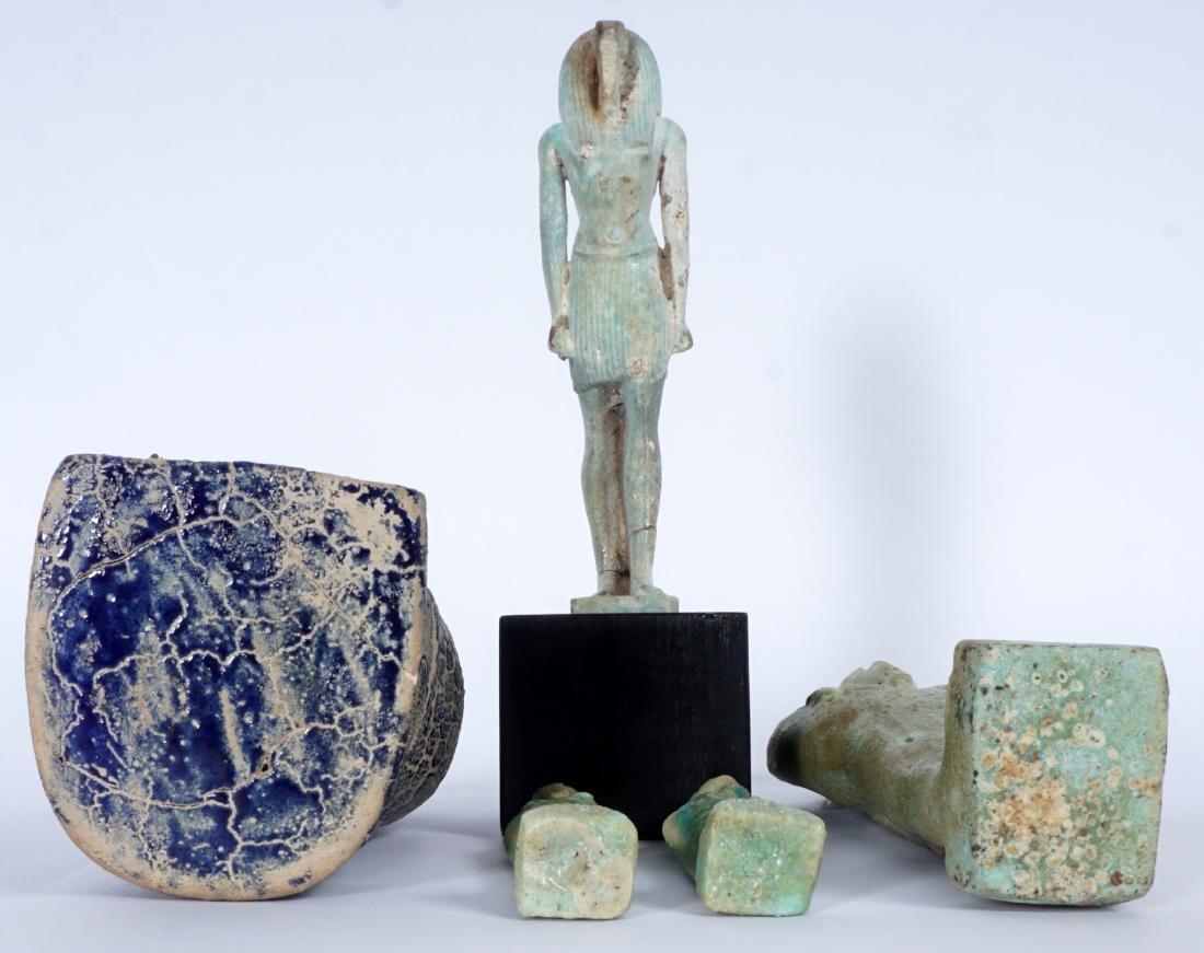 5 Egyptian Ushabti & Thoth Baboon Figure - 5