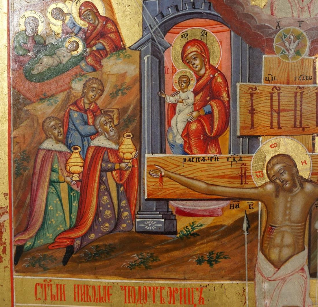 19th Century Russian Icon Depicting Crucifixion - 2