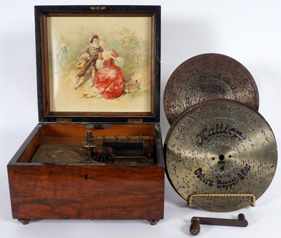 Kalliope 6 Bell Disc Music Box & Discs