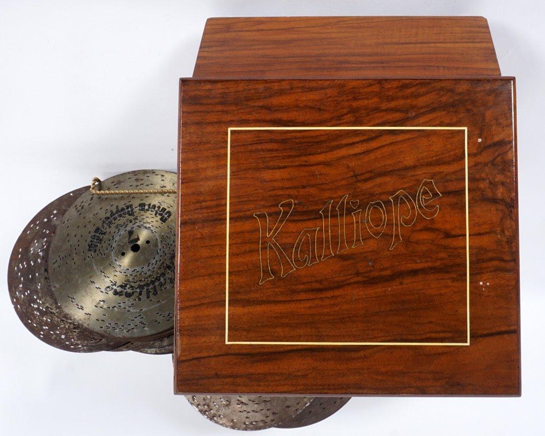 Kalliope 6 Bell Disc Music Box & Discs - 3