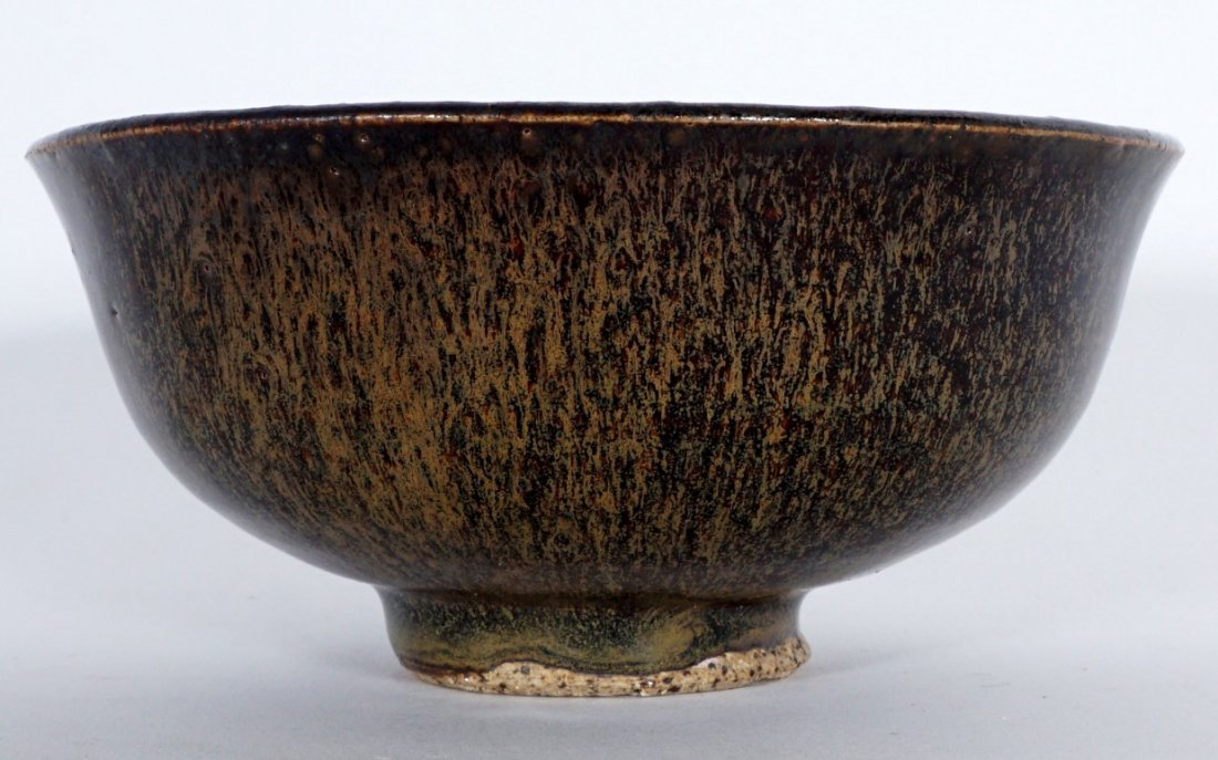 Fine Chinese Song Dynasty Hare's Fur Tea Bowl