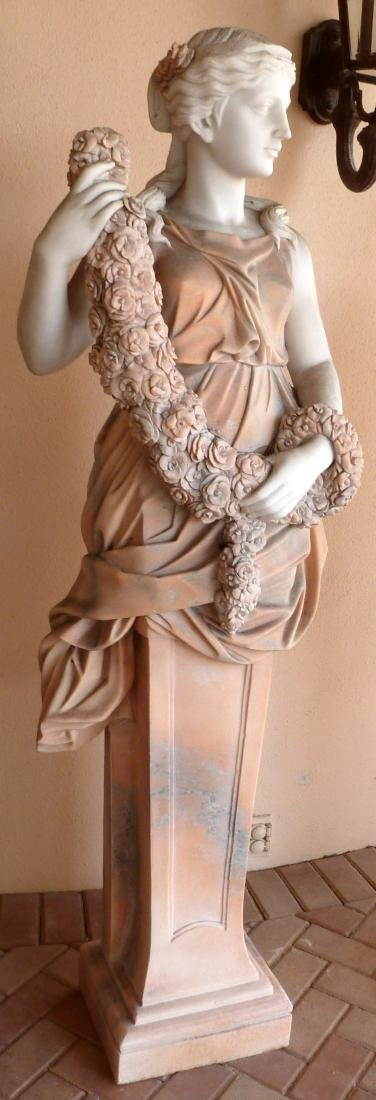 Large Pair Neoclassical Marble Man and Woman - 2