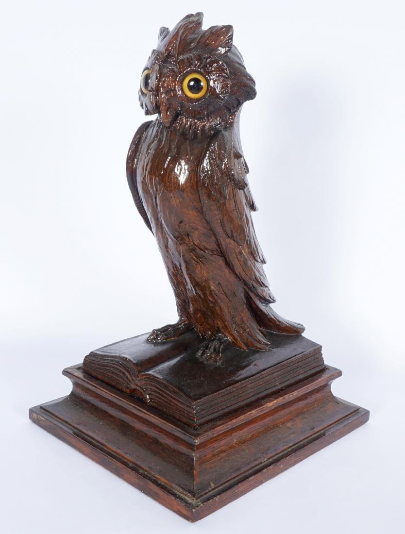 German Black Forest Carved Owl