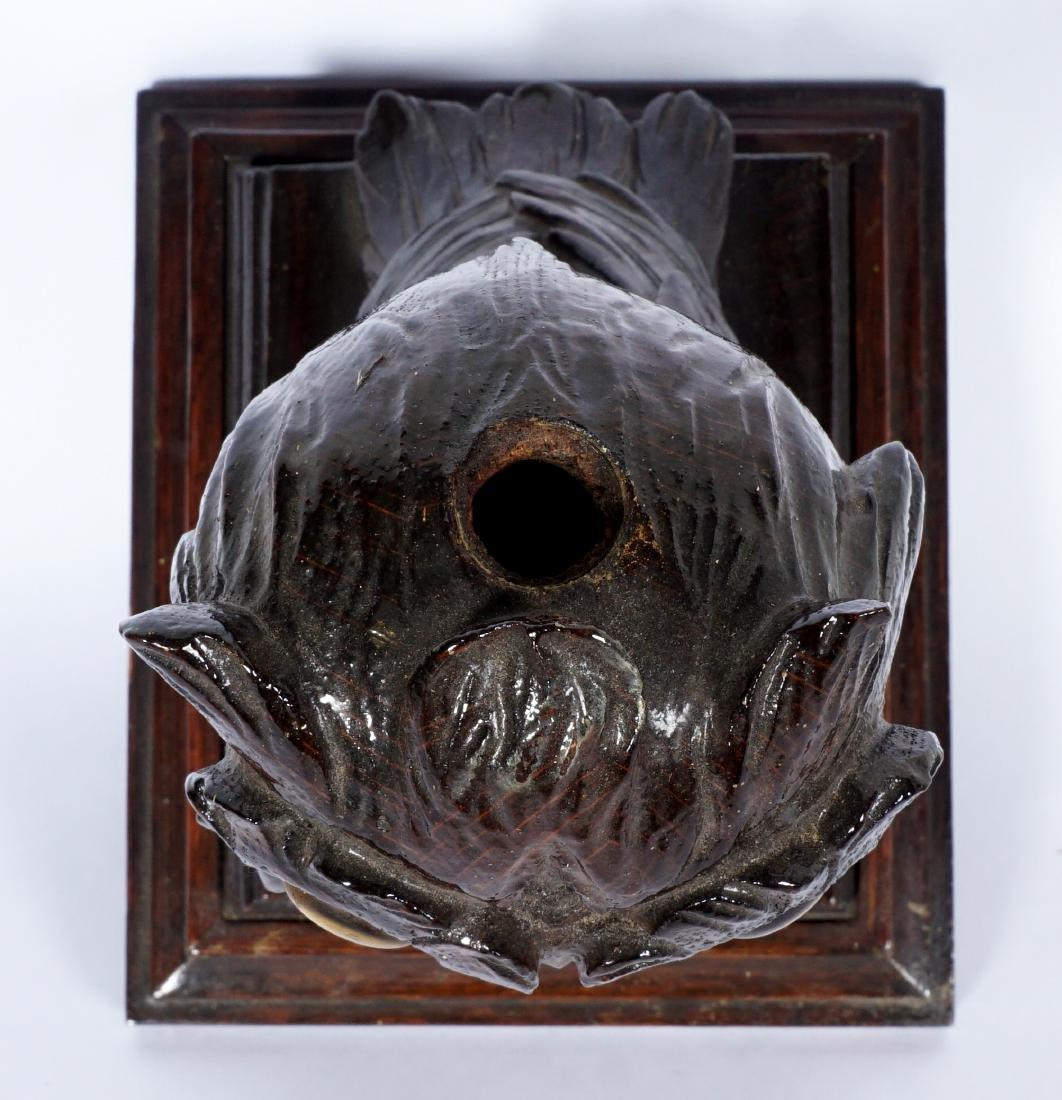 German Black Forest Carved Owl - 9