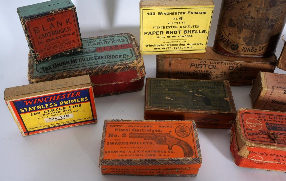 Collection of Antique & Vintage Boxed Ammunition - 2