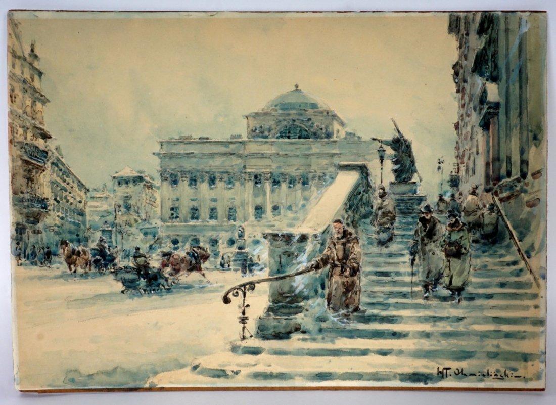Wladyslaw Chmielinski Winter In Warsaw Painting