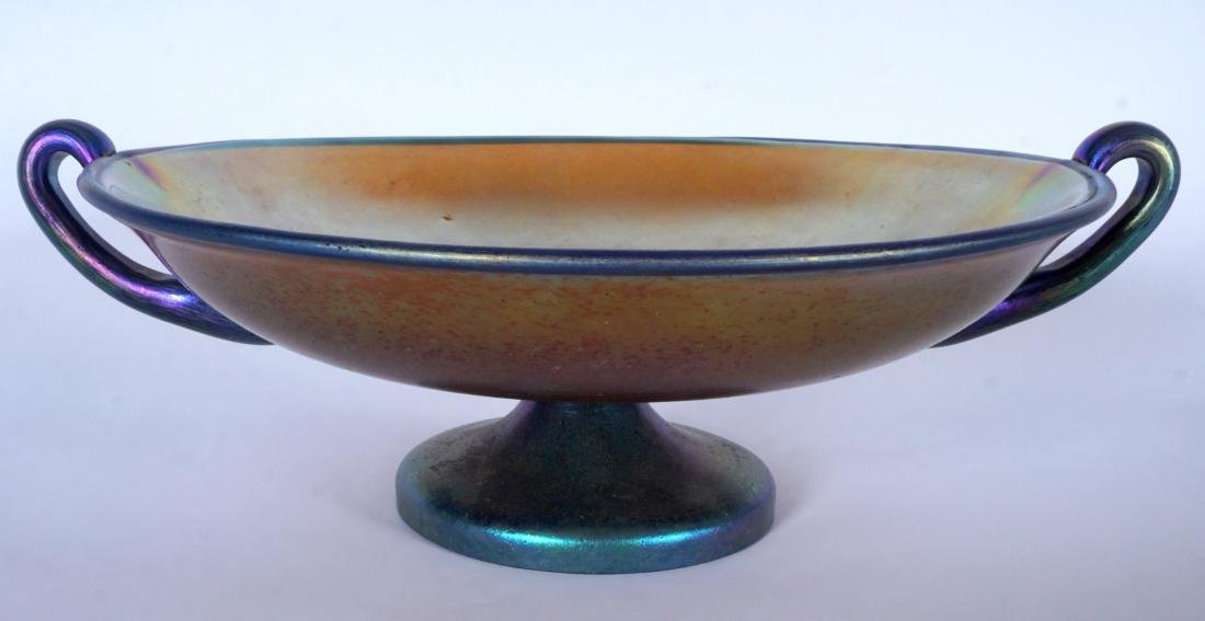 Loetz? Iridescent Footed Center Bowl / Compote