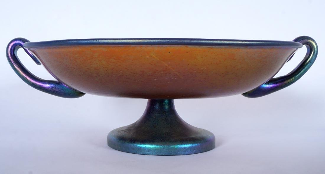 Loetz? Iridescent Footed Center Bowl / Compote - 2