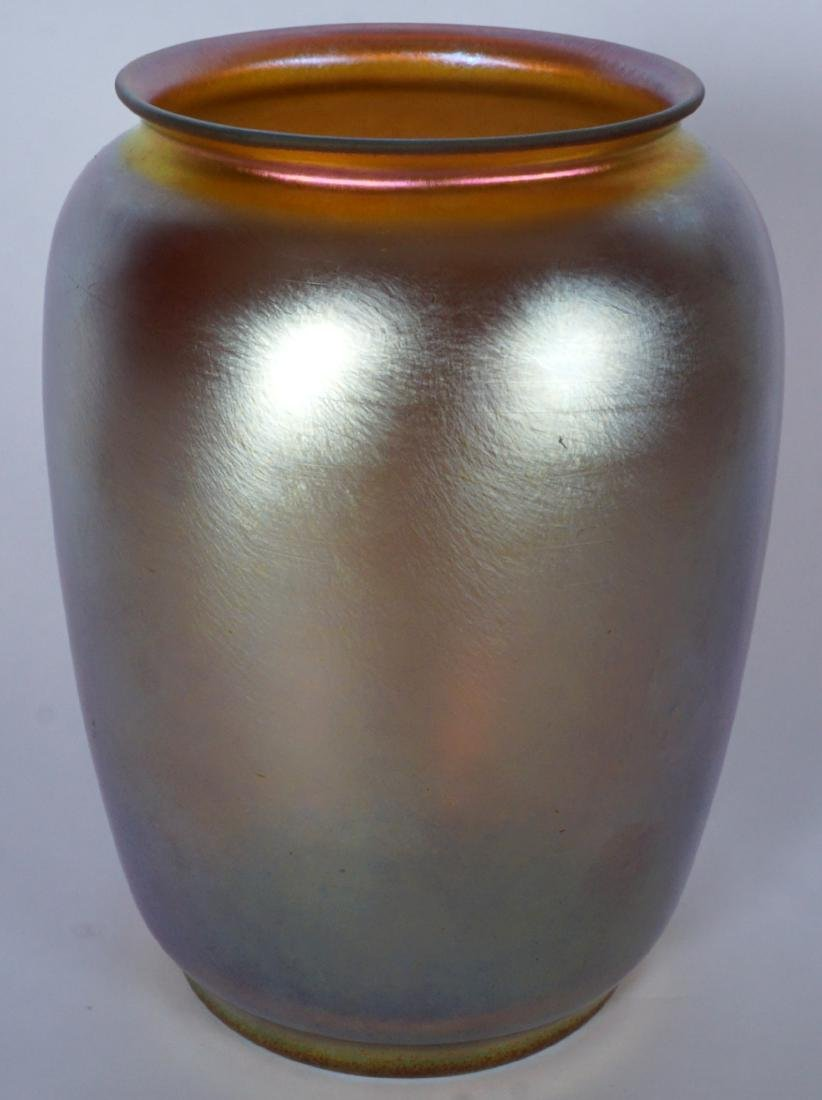 Durand Iridescent Gold Art Glass Vase