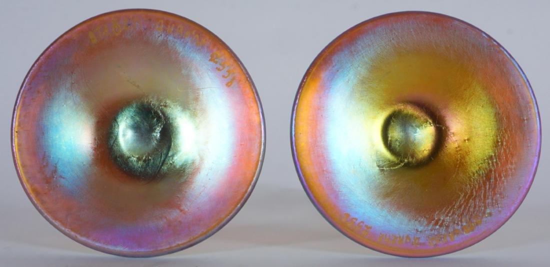 Pair Steuben Aurene Stick Bud Vases - 5
