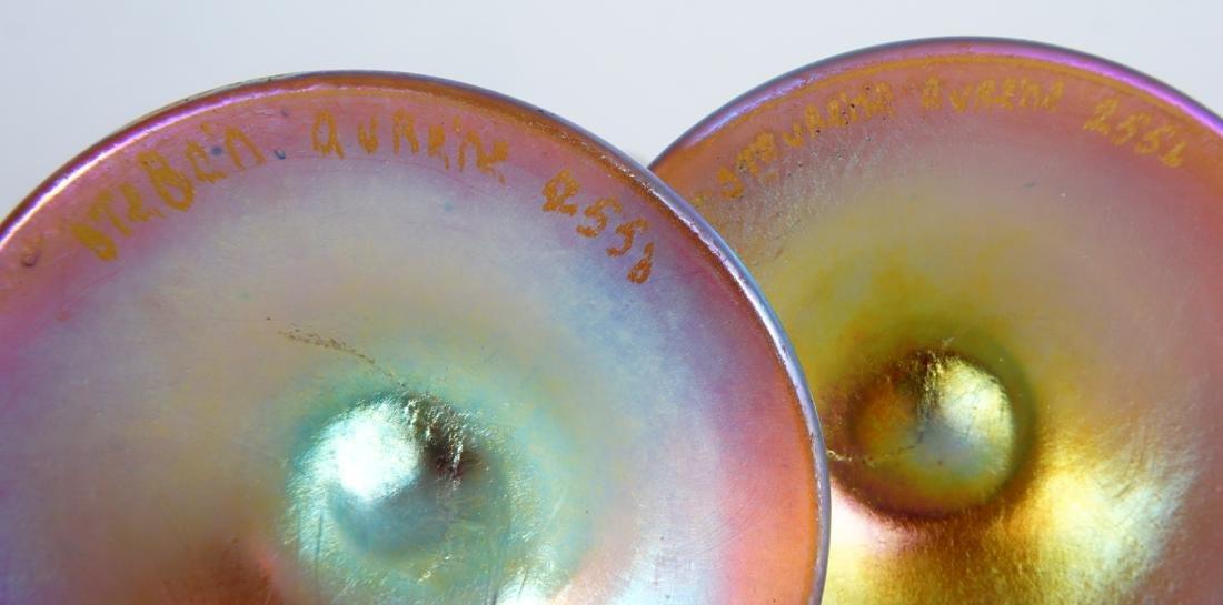 Pair Steuben Aurene Stick Bud Vases - 6