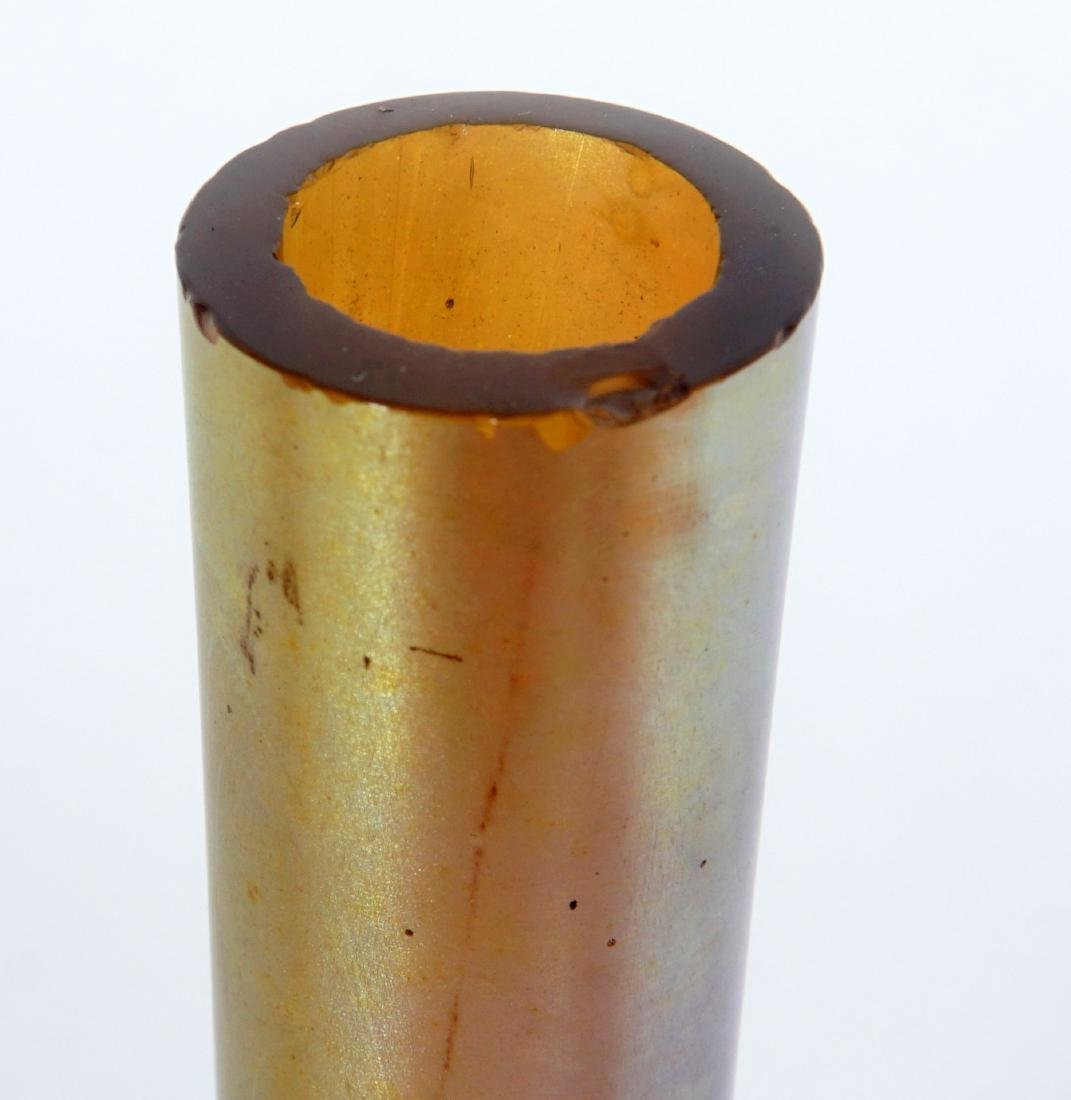 Pair Steuben Aurene Stick Bud Vases - 7