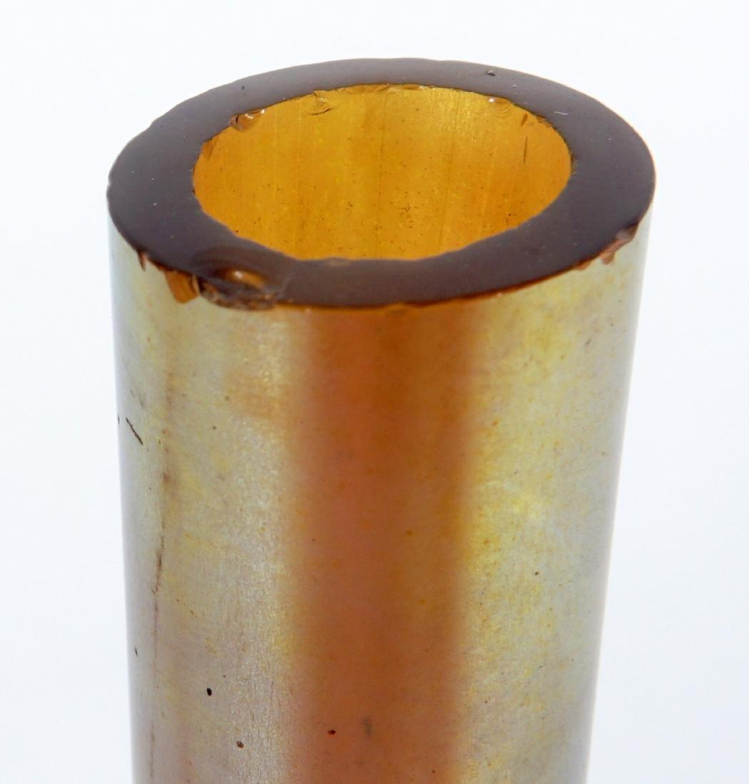 Pair Steuben Aurene Stick Bud Vases - 8