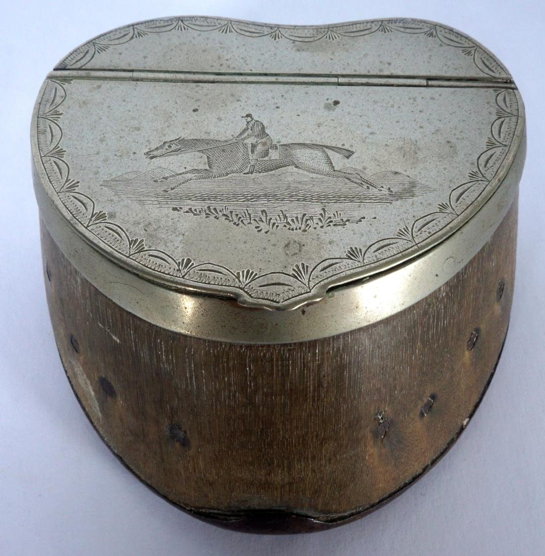 Silverplate Mounted Horse Hoof Inkwell