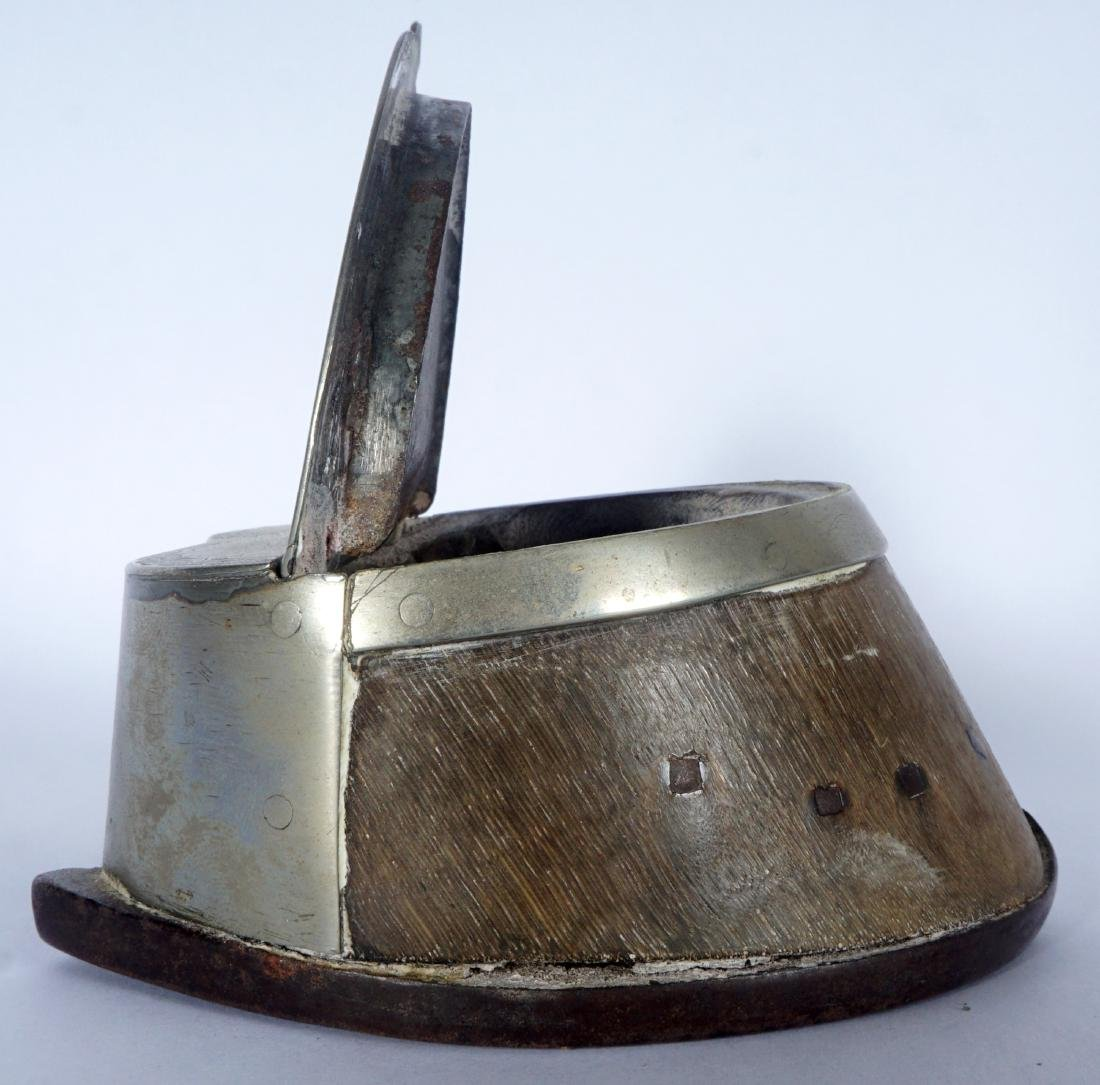 Silverplate Mounted Horse Hoof Inkwell - 2