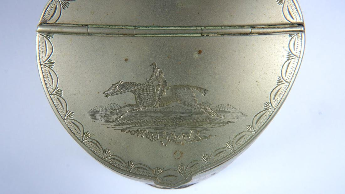 Silverplate Mounted Horse Hoof Inkwell - 4