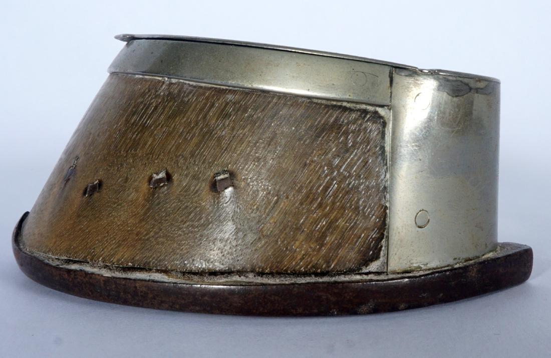 Silverplate Mounted Horse Hoof Inkwell - 6
