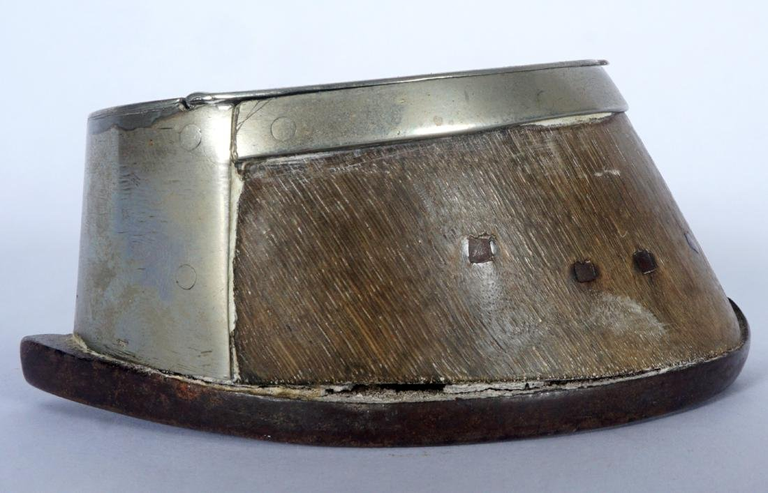 Silverplate Mounted Horse Hoof Inkwell - 7