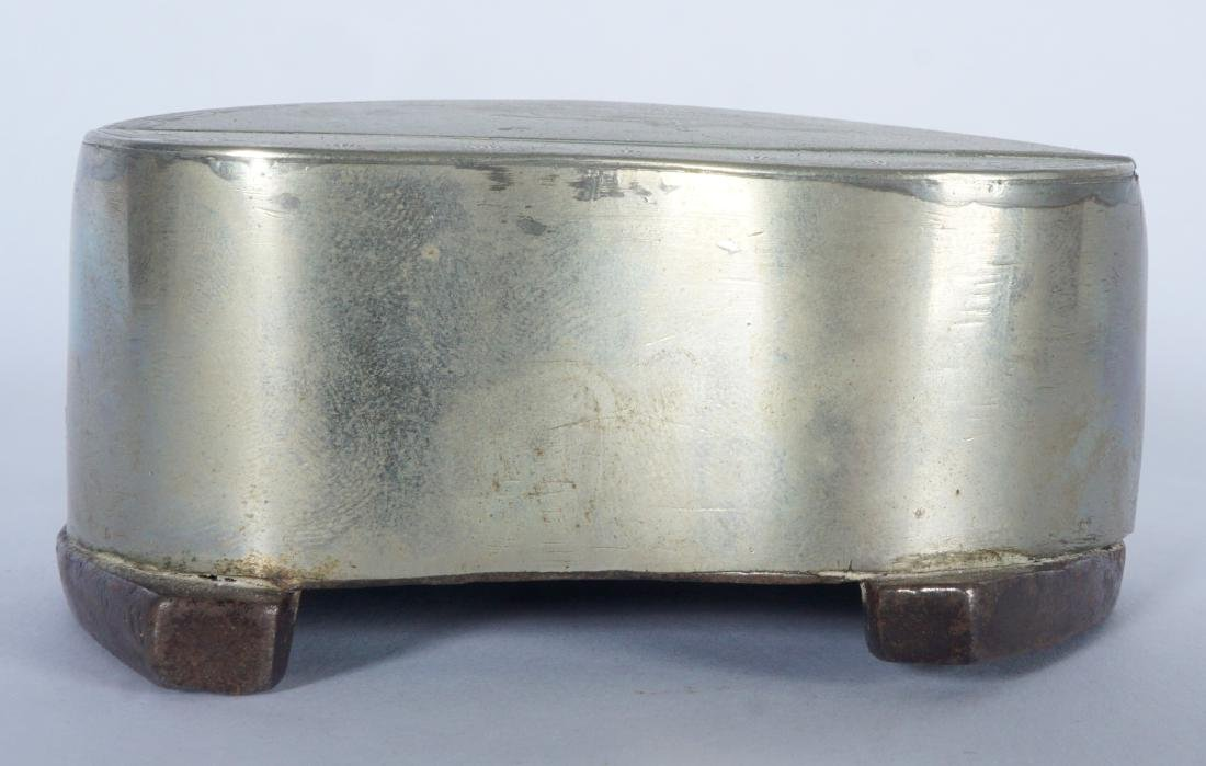 Silverplate Mounted Horse Hoof Inkwell - 8