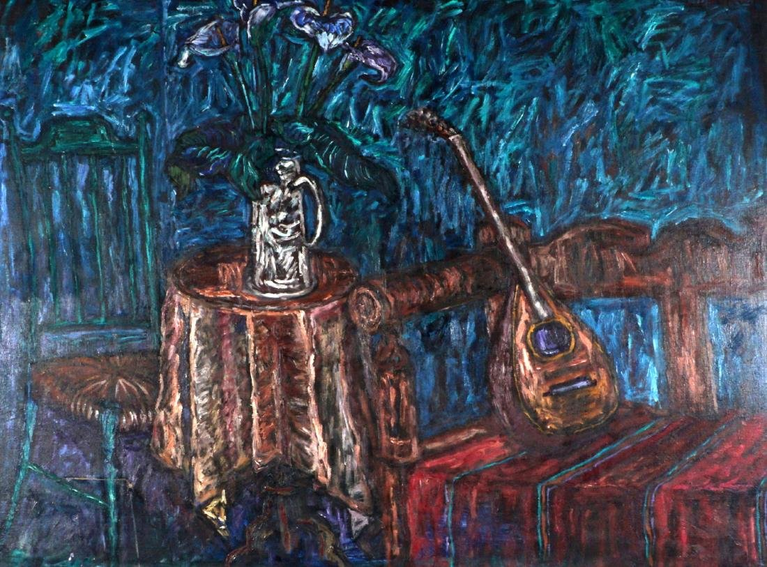 Luis Orosco Still Life With Mandolin Painting