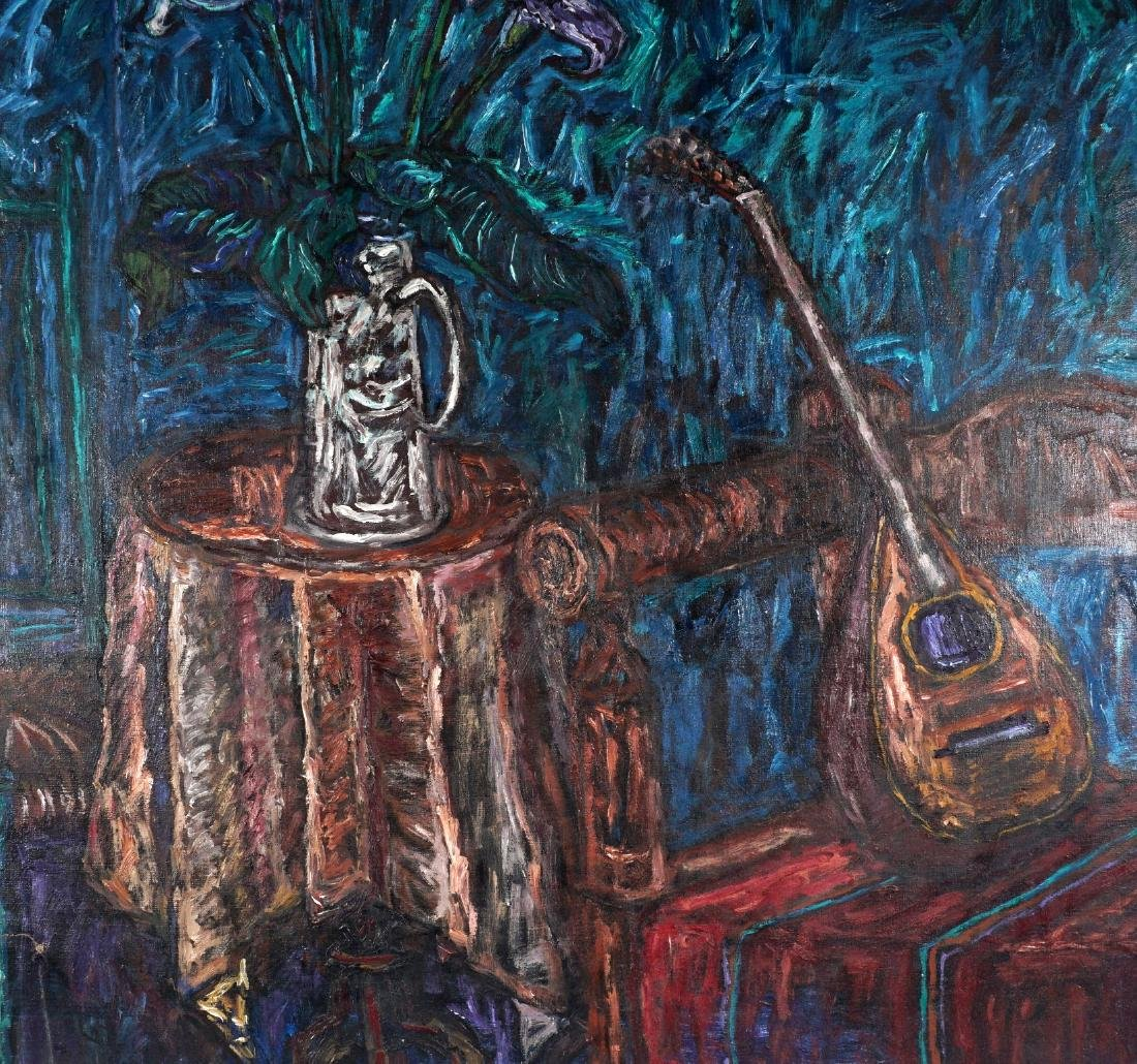 Luis Orosco Still Life With Mandolin Painting - 3
