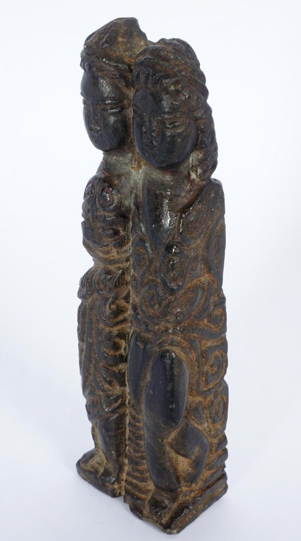 Chinese Carved Stone Double Figural Group