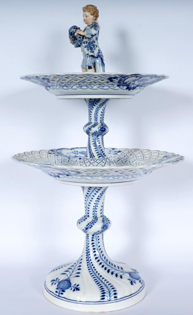 Meissen Blue Onion 2 Tier Dessert Stand - 3