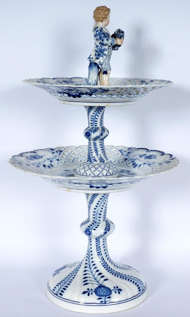 Meissen Blue Onion 2 Tier Dessert Stand - 6