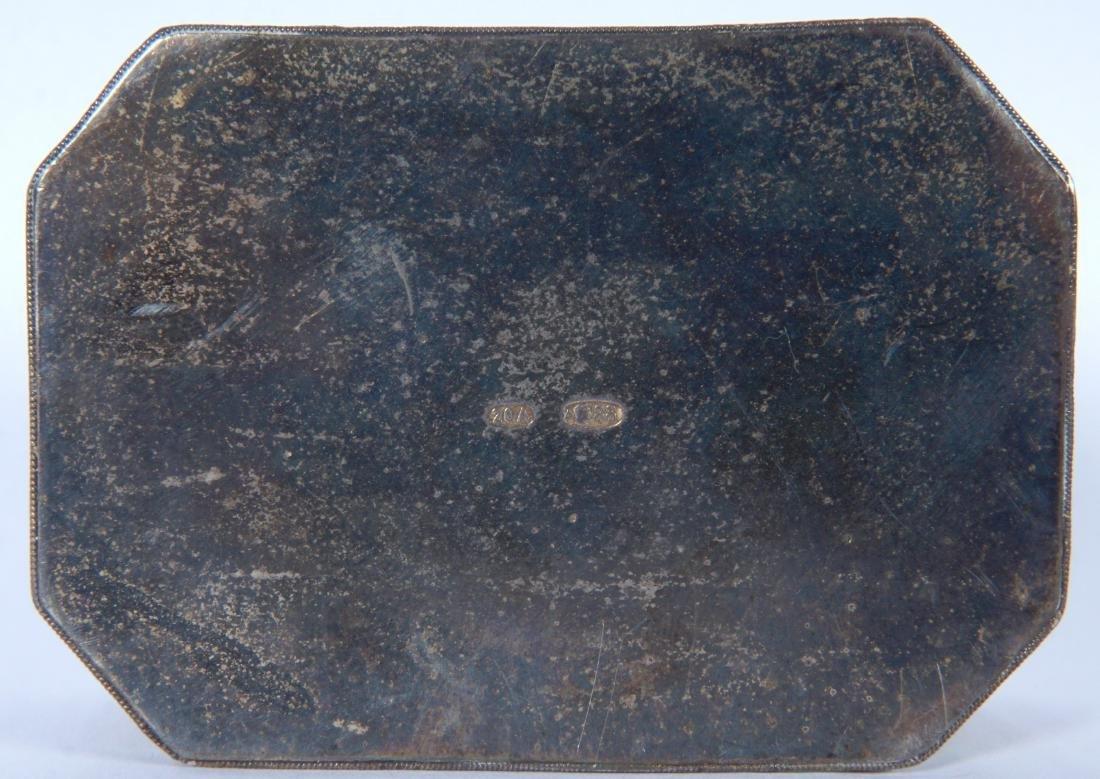 Russian Silver Enameled 20th Artel Snuff Box - 7