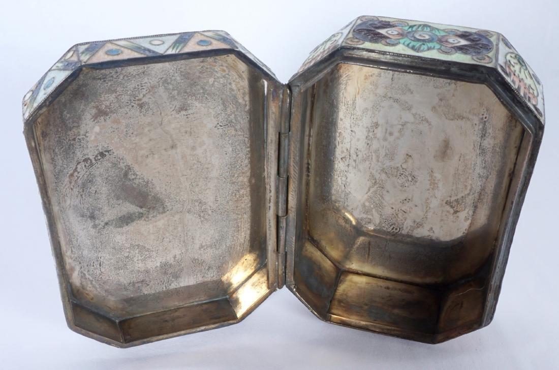 Russian Silver Enameled 20th Artel Snuff Box - 9