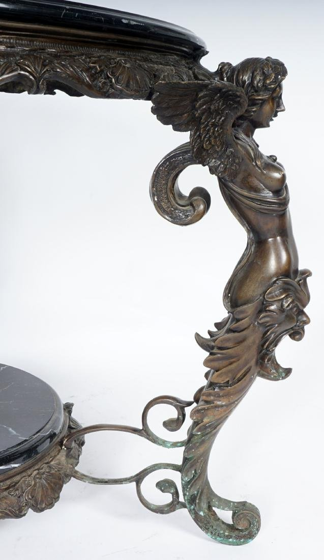 Marble Top Bronze Figural Angel Table - 8